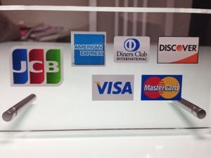 クレジットカードにも対応しています